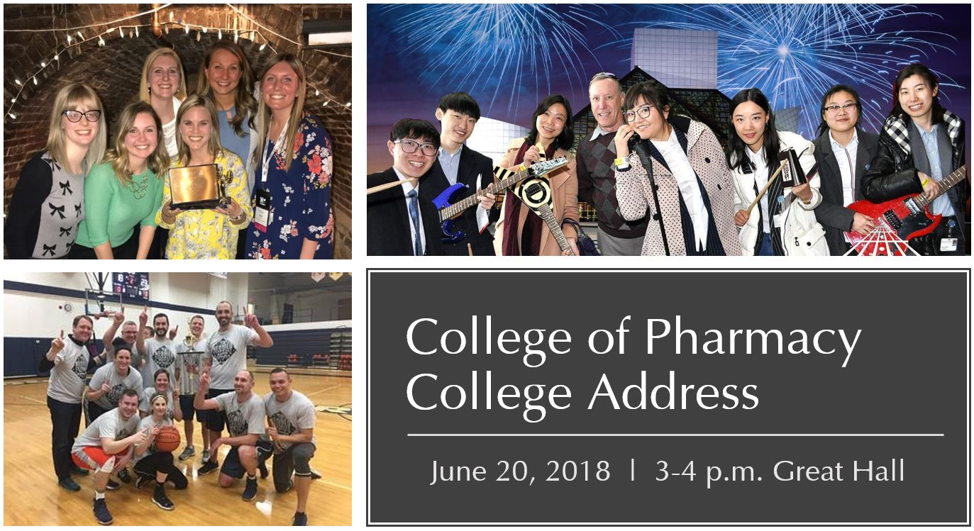 College of Pharmacy College Address graphic