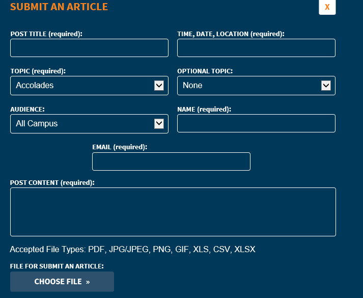 Submission form for The Pulse