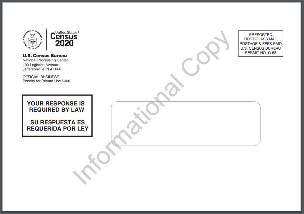 Census mailing envelope