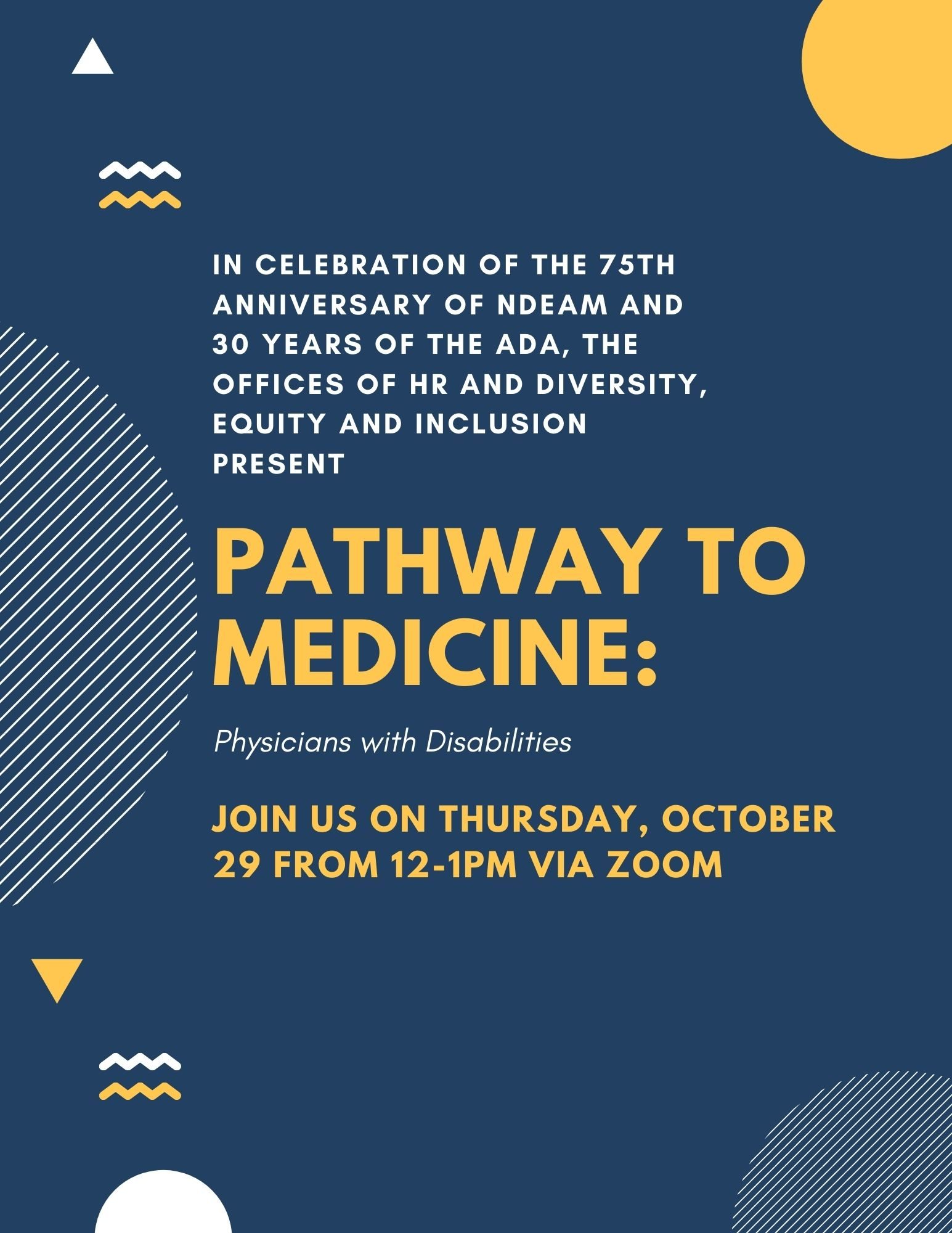 Pathway to Medicine: Physicians with Disabilities flyer